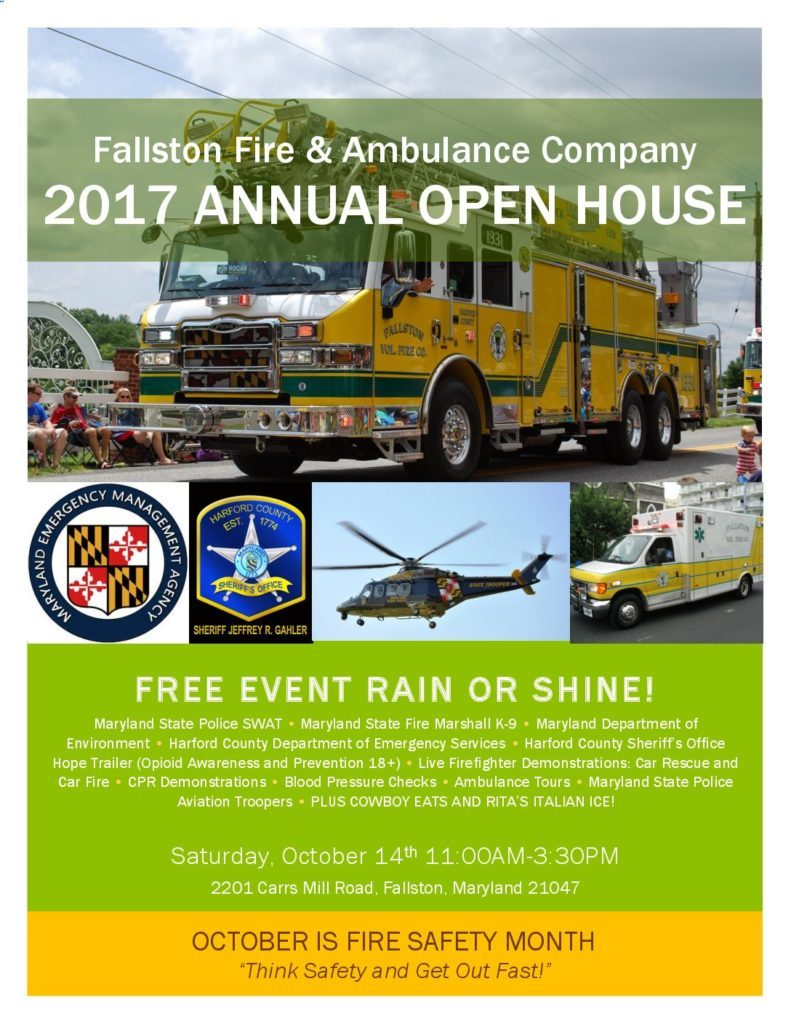 FVFAC 2017 Fire Prevention Week Open House